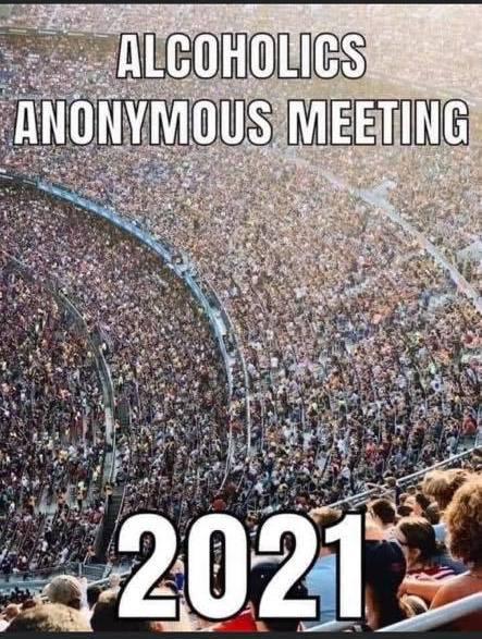 funny coronavirus meme, alcoholics anonymous coronavirus meme