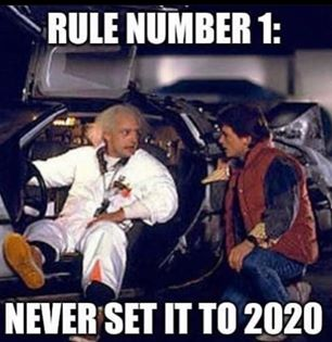 funny coronavirus meme, back to the future coronavirus meme, rule number 1 coronavirus meme