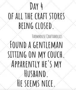 funny coronavirus meme, craft store coronavirus meme, marriage coronavirus meme, husband coronavirus meme