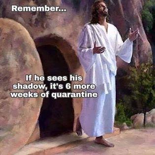 funny coronavirus meme, jesus coronavirus meme, groundhog day coronavirus meme