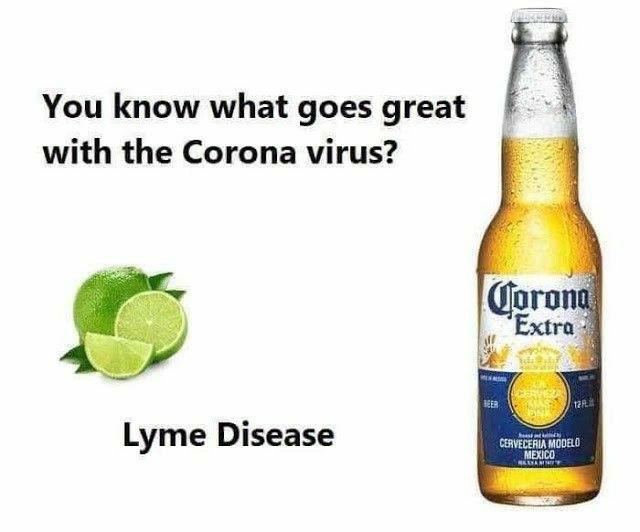 funny coronavirus meme, corona beer coronavirus meme, lyme disease coronavirus meme