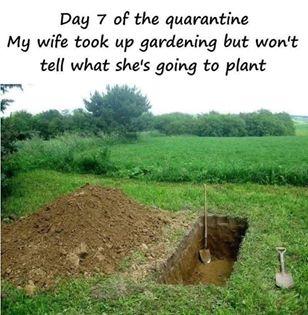 funny coronavirus meme, gardening coronavirus meme, death coronavirus meme
