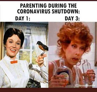 funny coronavirus meme, drinking coronavirus meme, parenting coronavirus meme