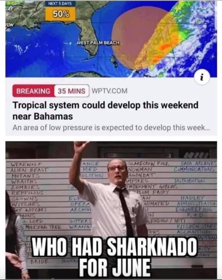 funny coronavirus meme, sharknado coronavirus meme