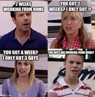 funny coronavirus meme, working from home coronavirus meme